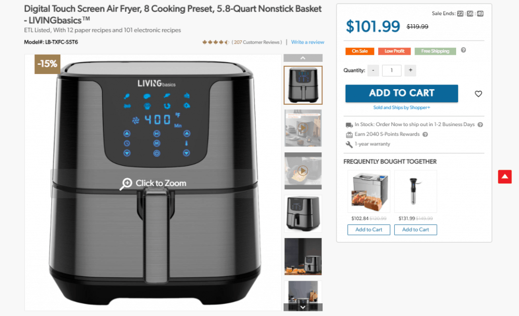 Airfryer product example