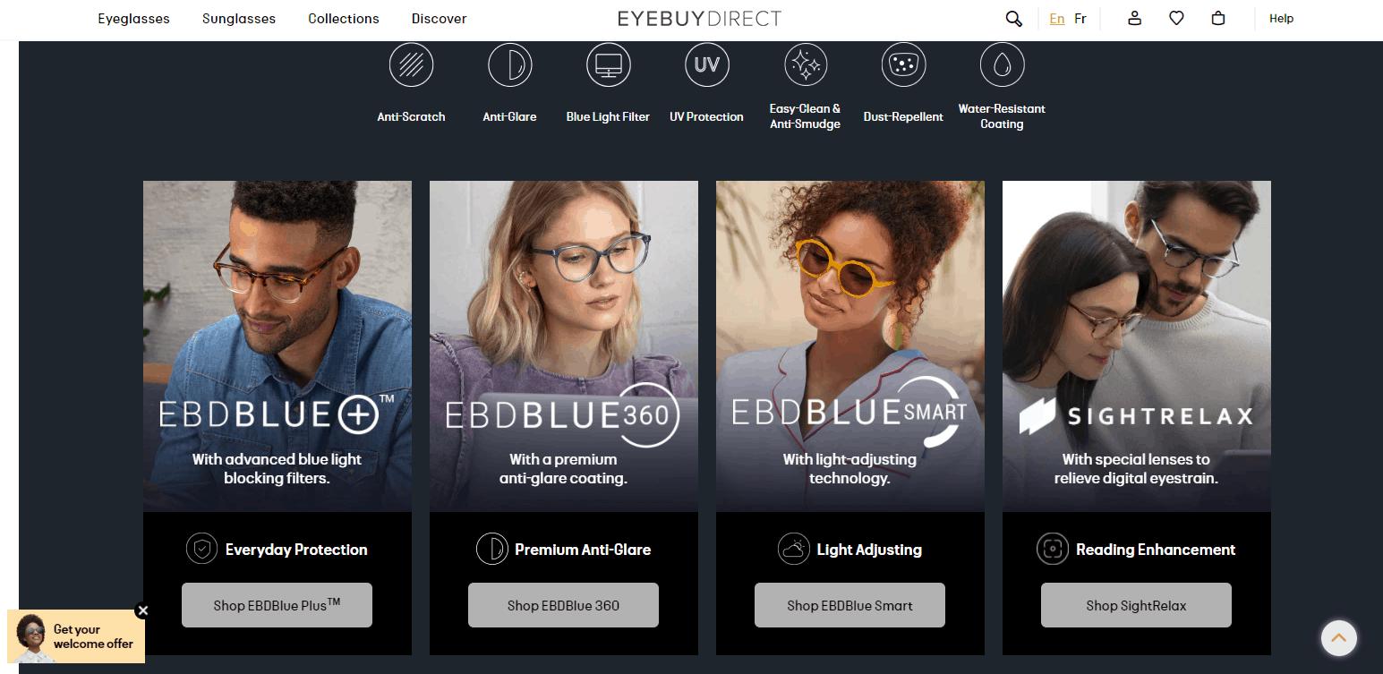Blue light blocking glasses website