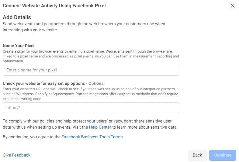Naming the Facebook Pixel