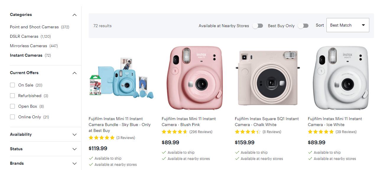Polaroid camera example