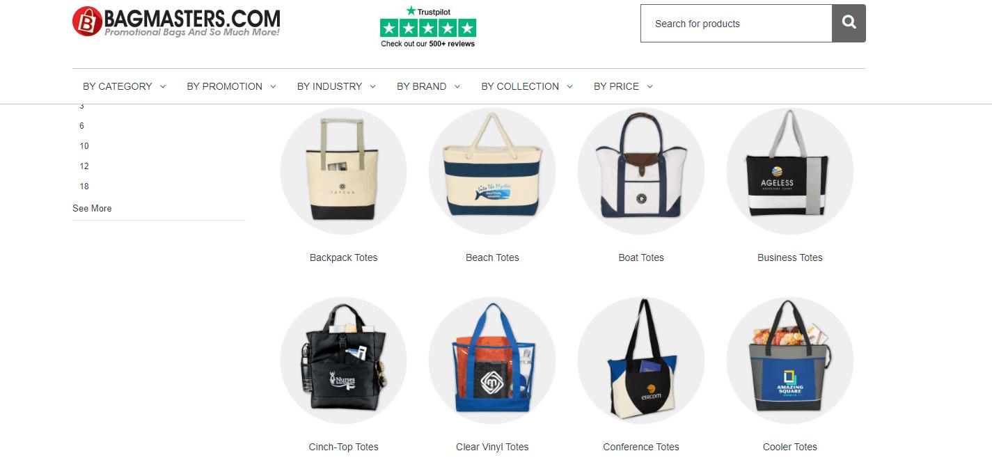 Tote bag online store