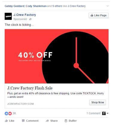 Urgent Facebook ad