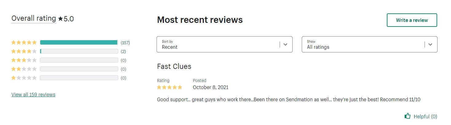 BOOM upsell app reviews